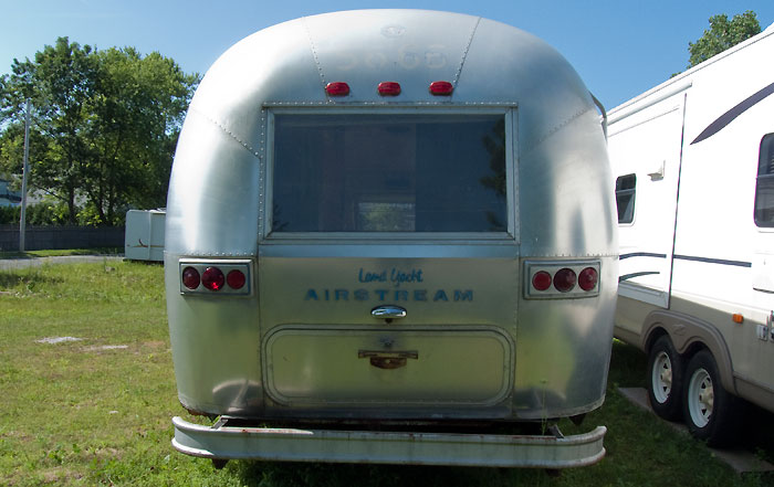 Rear view - 1969 Airstream Tradewind, July 14, 2009