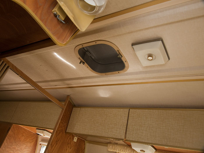 View of the ceiling above the kitchen - 1969 Airstream Tradewind, July 14, 2009