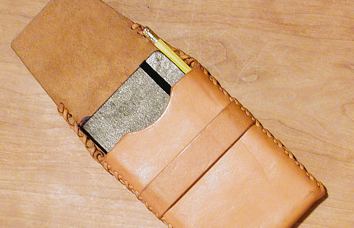 Leather Moleskine Case with Pencil