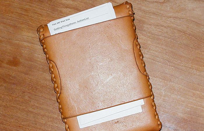 Leather Moleskine Case, Back