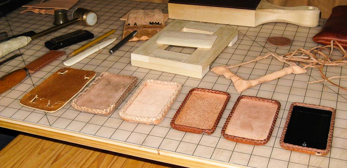 Six Steps in the Development of a Leather Case for my iPod Touch