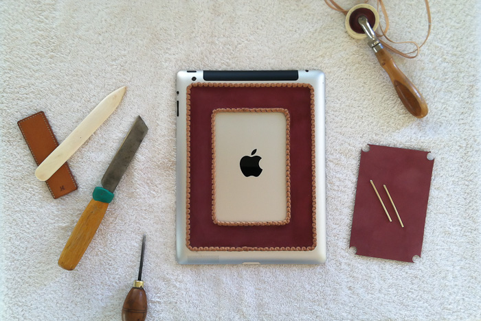 Braided Leather iPad Grip