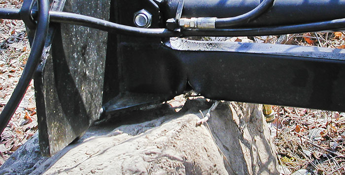 Power-Trac MiniHoe - a Closeup of the Kink