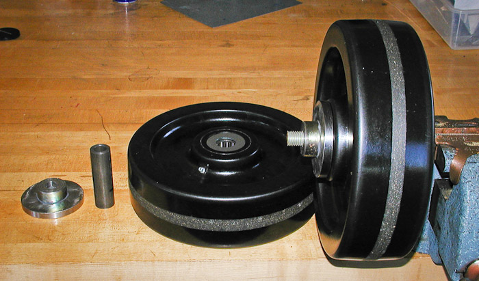 New Wheel Assembly, PT-1845 Roughcut Mower,  October 20, 2003