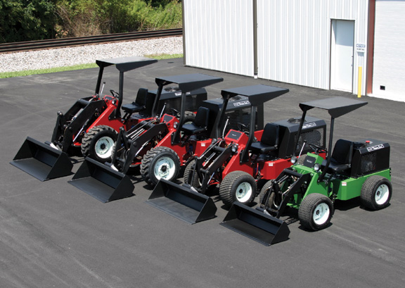 Picture from the Power-Trac web site in 2003 showing off a lineup of the 1460, 1445, 1430 and 425