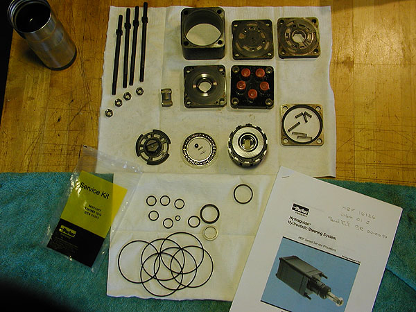 Pt 1845 repairing loss of steering input for Ross hydraulic motor seal kit