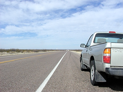 US 285 between Pecos and Orla TX