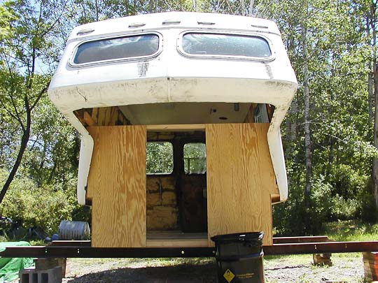 Starcraft Truck Camper shell, exterior,  front