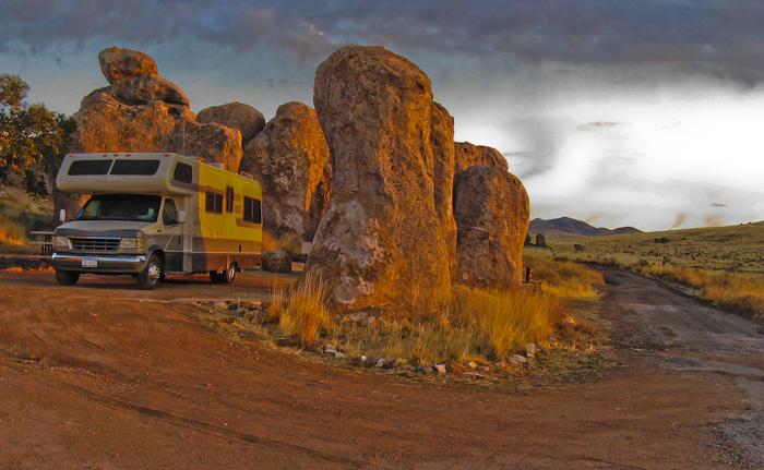 Camped at City of Rocks State Park, Faywood NM, March 14, 2009