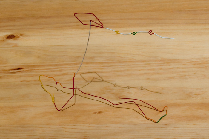 Wire art series #1 - Kite, ca. early 1990's, photographed April 25, 2009