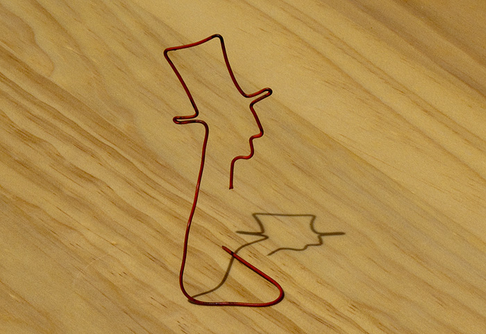 Wire art series #8 - Top Hat, ca. early 1990's, photographed April 25, 2009