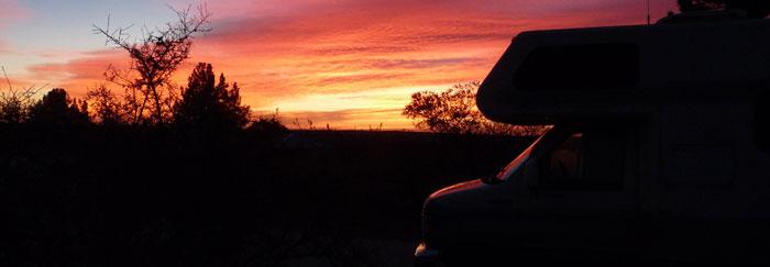 Dawn at Site 42, Brantley Lake State Park, Carlsbad NM, December 9, 2009