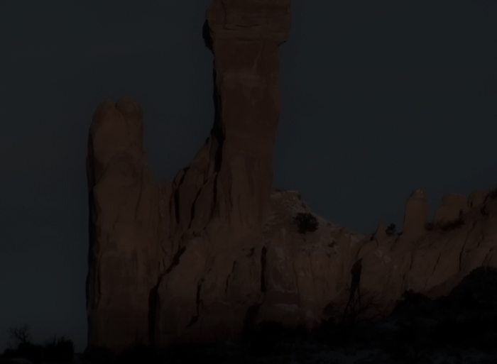 Ghost of Chimney Rock, Ghost Ranch, Abiquiu NM, December 27, 2009