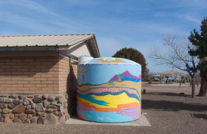 You Are Drinking Ice - Age Water, Pancho Villa State Park, Columbus NM, January 10, 2010