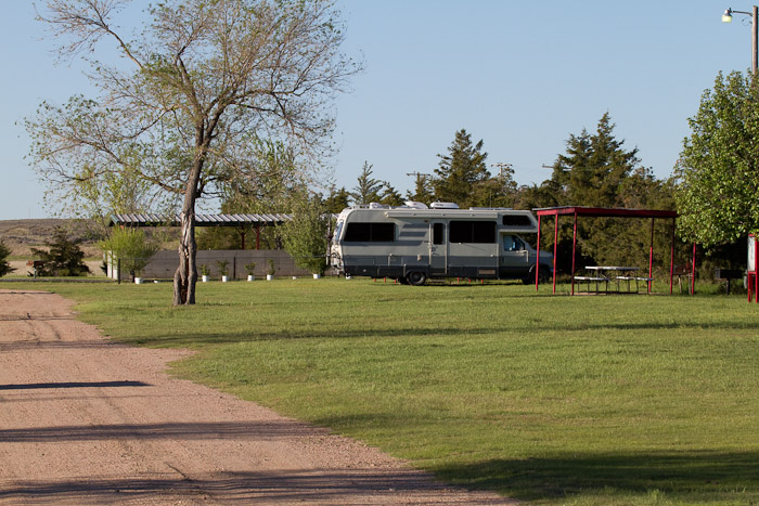 Camped at Beymer Water Recreation Park, Lakin KS, May 4, 2010
