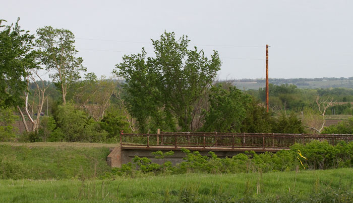 Rail Trail & Old Railroad Trestle, Lyndon KS, May 6, 2010