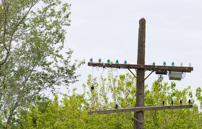 Land line, Lyndon KS, May 9, 2010