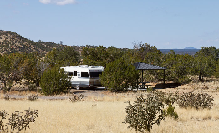 Camped at BLM Campground, El Malpais National Conservation Area, Grants NM, March 24, 2011