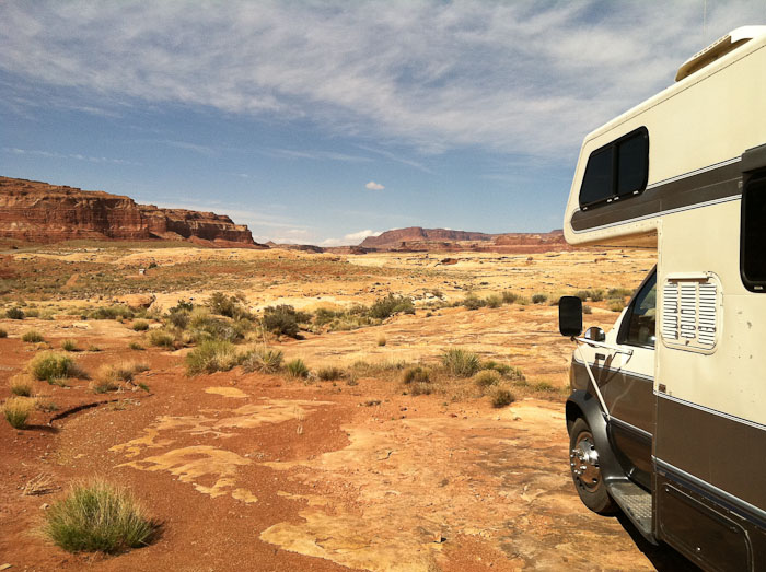 Camped at the primitive campground west of Lake Powell