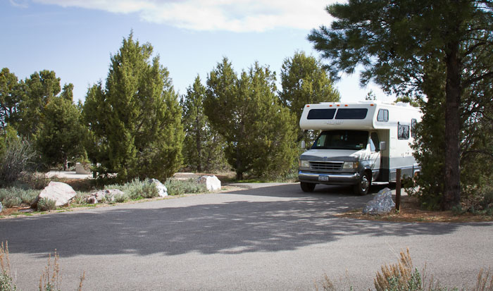 Camped at Devil's Canyon Campground, Blanding UT, April 25, 2011