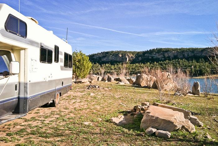Camped at Recapture Dam Recreation Area, Blanding UT, April 27, 2011