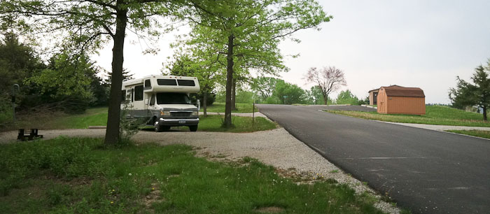 Camped at Buck Creek Campground, Centerville IA, May 11, 2011