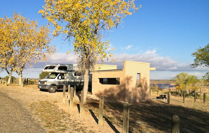 Morning at Site 34, Sumner Lake State Park, Fort Sumner NM, November 2, 2011
