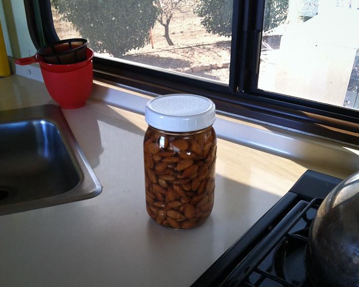 Soaked Almonds, January 22, 2012