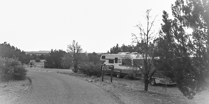 Morning at Site B4, Santa Rosa Lake State Park, Santa Rosa NM, May 10, 2012