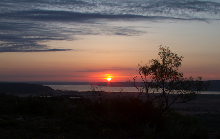 Sunrise at Blue West, Lake Meredith National Recreation Area, Fritch TX, May 12, 2012