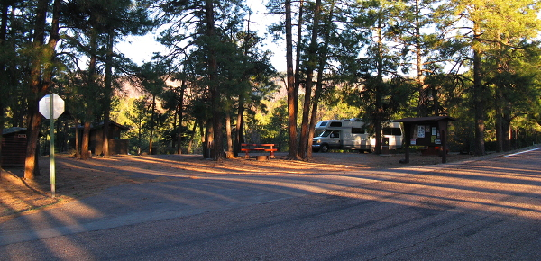 Dawn at Strayhorse Campground, March 29, 2008