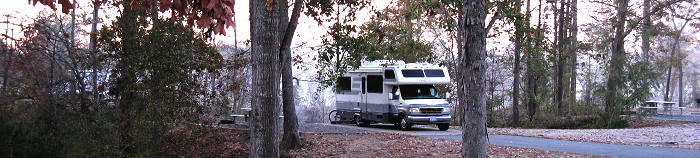 Camped at Site 45, Foscue Creek Park, Demopolis AL, November 22, 2008