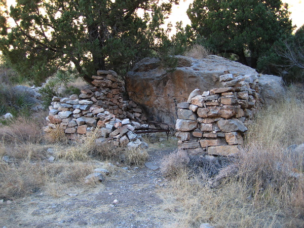 Line cabin, Dog Canyon Trail, Oliver Lee Memorial State Park, Alamogordo NM, February 2, 2008