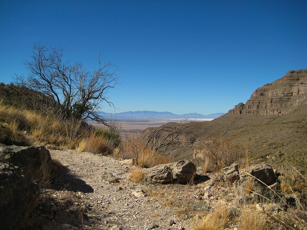 A view headed down the Dog Canyon Trail, Oliver Lee Memorial State Park, Alamogordo NM, February 2, 2008