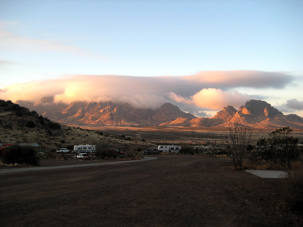 Low flying cloud, Rockhound State Park, Deming NM, February 17, 2008