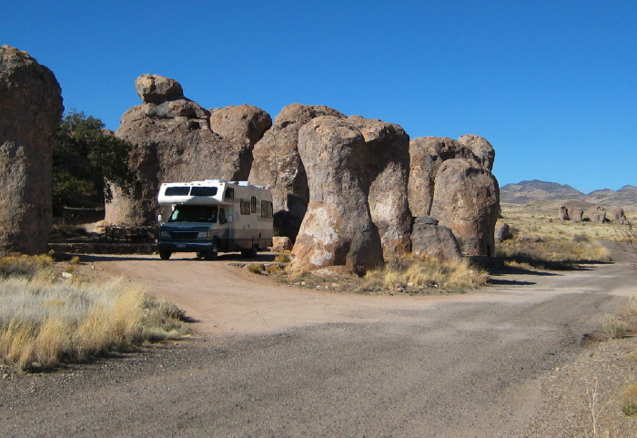 Camped at Site 12, City of Rocks State Park, Faywood NM, March 6, 2008