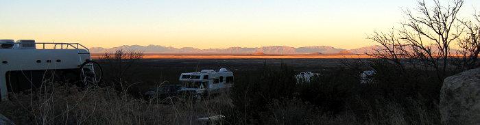 Camped at Site 7, Oliver Lee Memorial State Park, Alamogordo NM, January 8, 2009