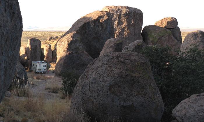 Morning among the Rocks, City of Rocks State Park, Faywood NM, February 17, 2009
