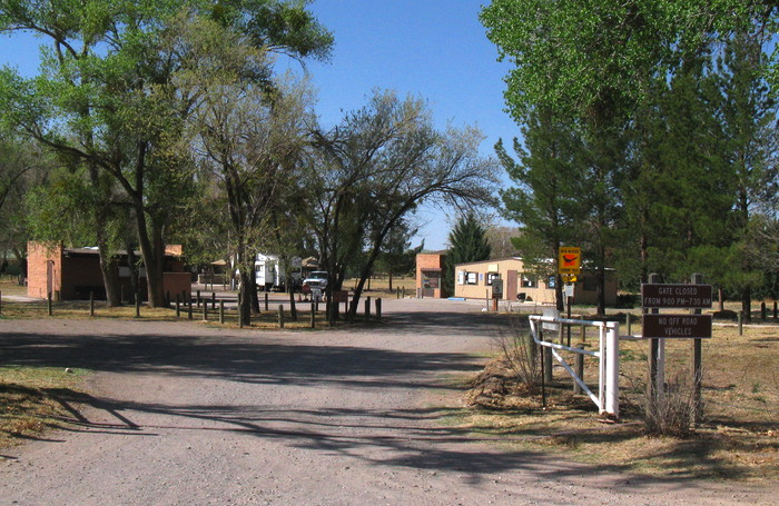 Entrance, Percha Dam State Park, Arrey NM, March 26, 2009